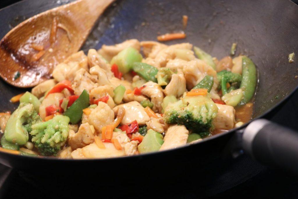 Korean BBQ stir fry chicken