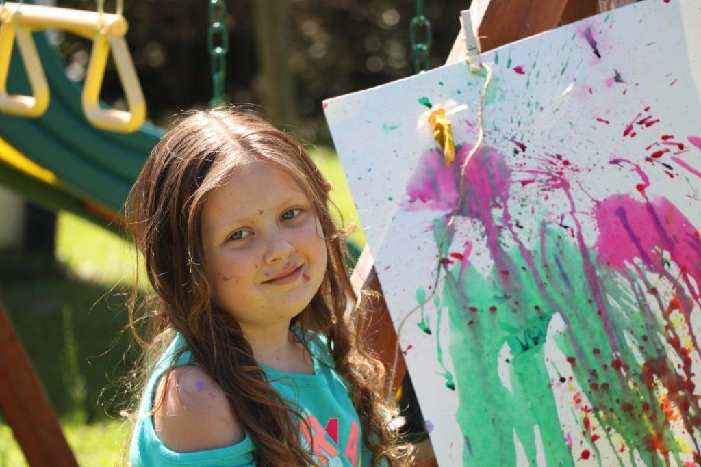 Balloon paint pop art