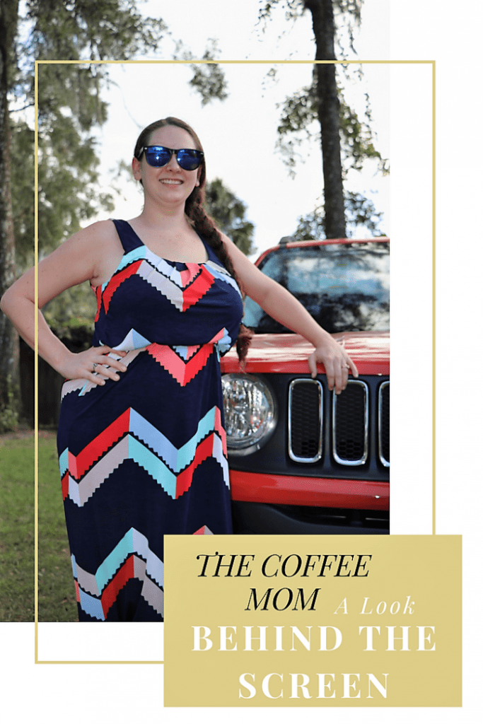 The Coffee Mom...Woman behind the screen