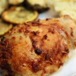 Easy crispy baked chicken thighs