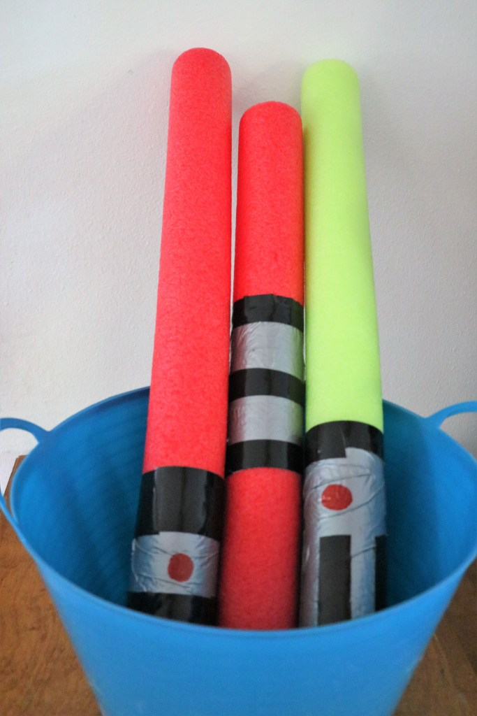Easy Star Wars Party Ideas Dollar Tree Pool Noodle Light Sabers