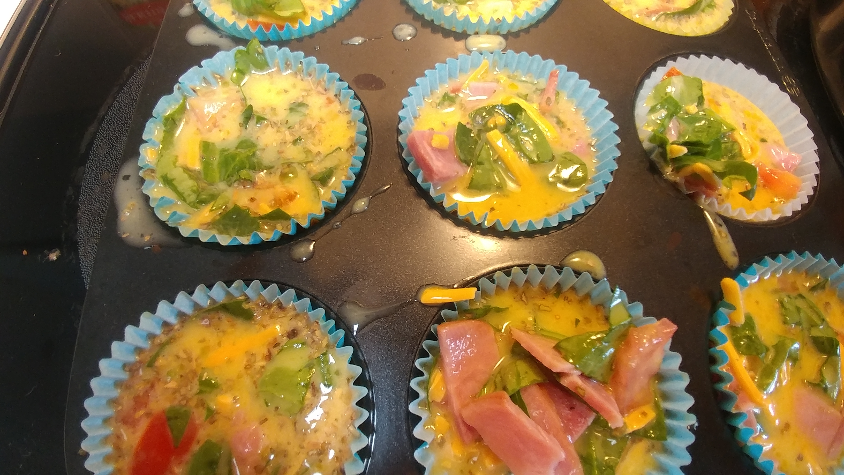 Easy Omelette Muffins. Family Friendly Low CArb Meal Prep Ideas for Breakfast