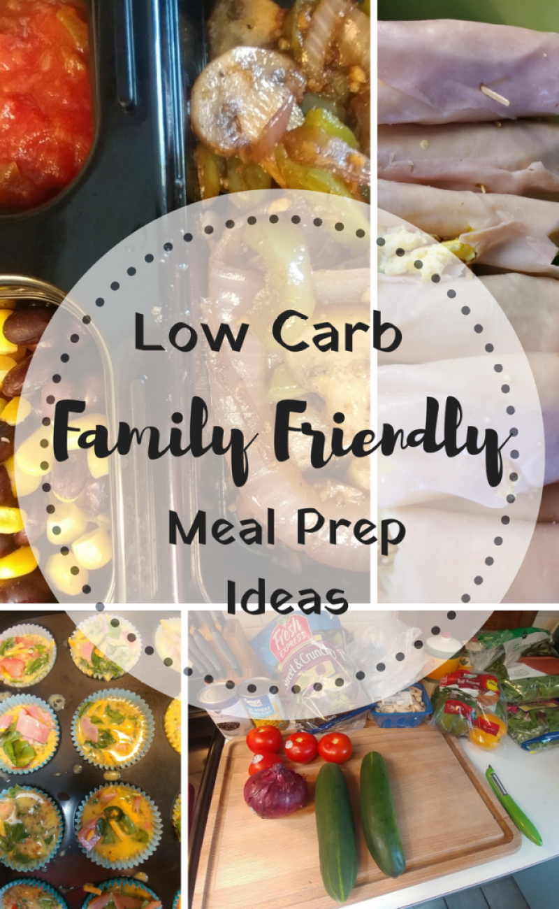 Family Friendly Low Carb Meal Prep Ideas for breakfast and lunch