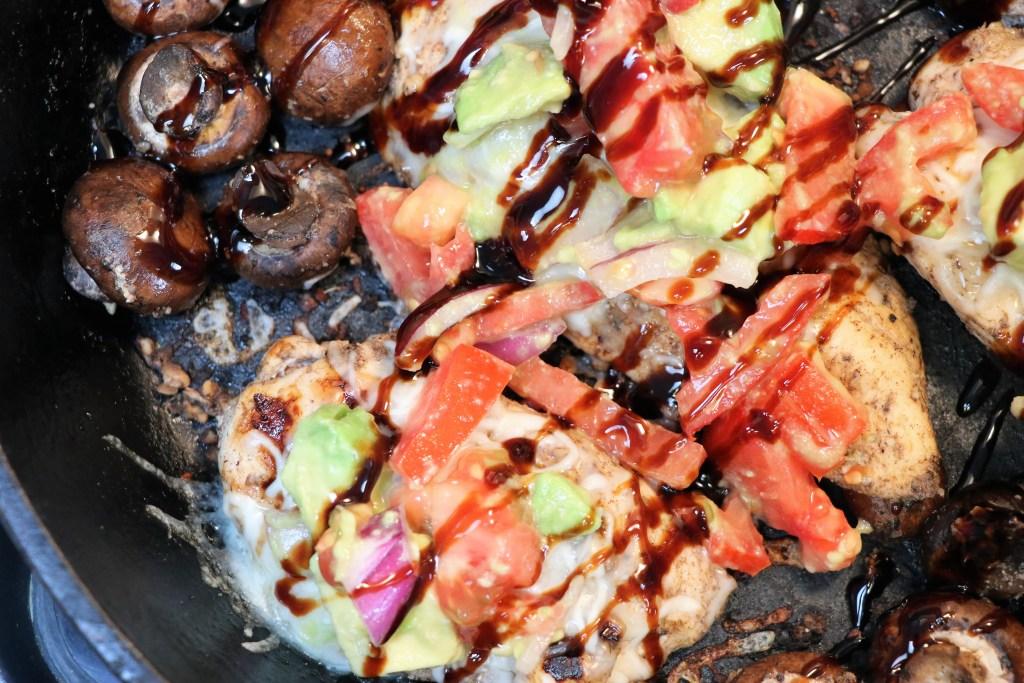 Balsamic Glazed Chicken With Avocado Salad