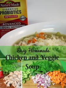 Easy Homemade Chicken Veggie Soup #NatureMadeProbiotics #ad