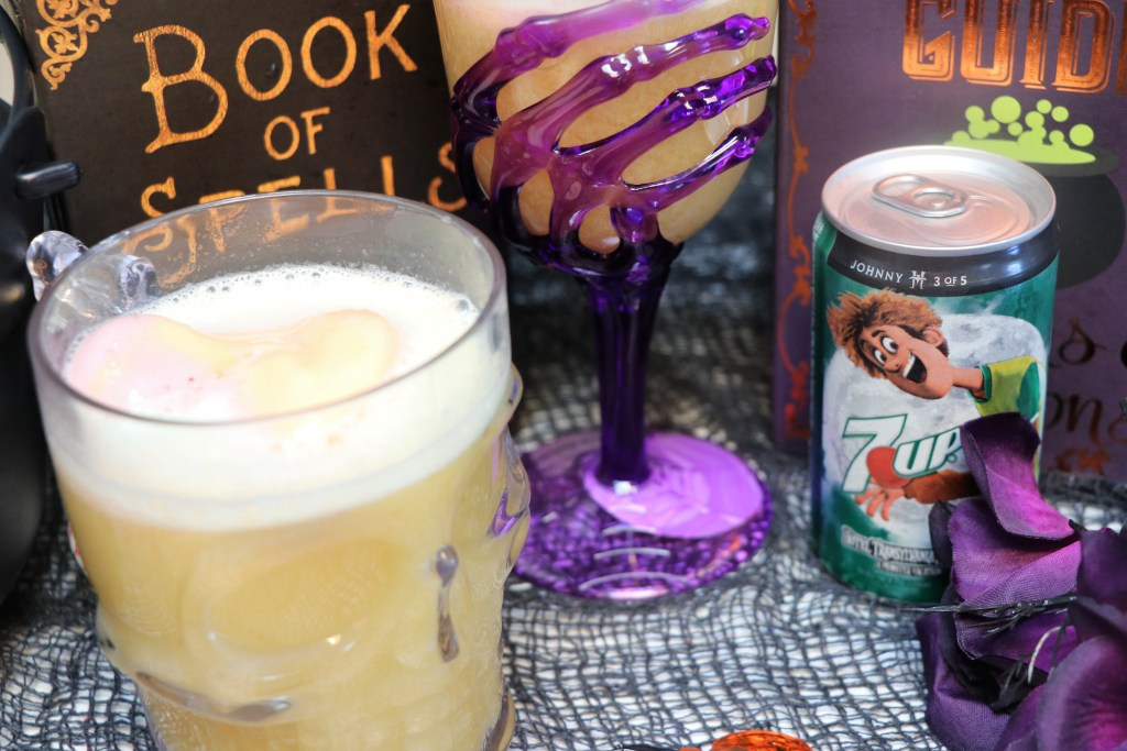 This spooky Witch's Brew Punch is made with 3 simple ingredients and will make any Halloween Party a creepy winner FrighteninglyFunFlavors #ad