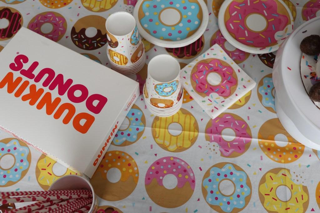 Diy Donut Bar at donut birthday party