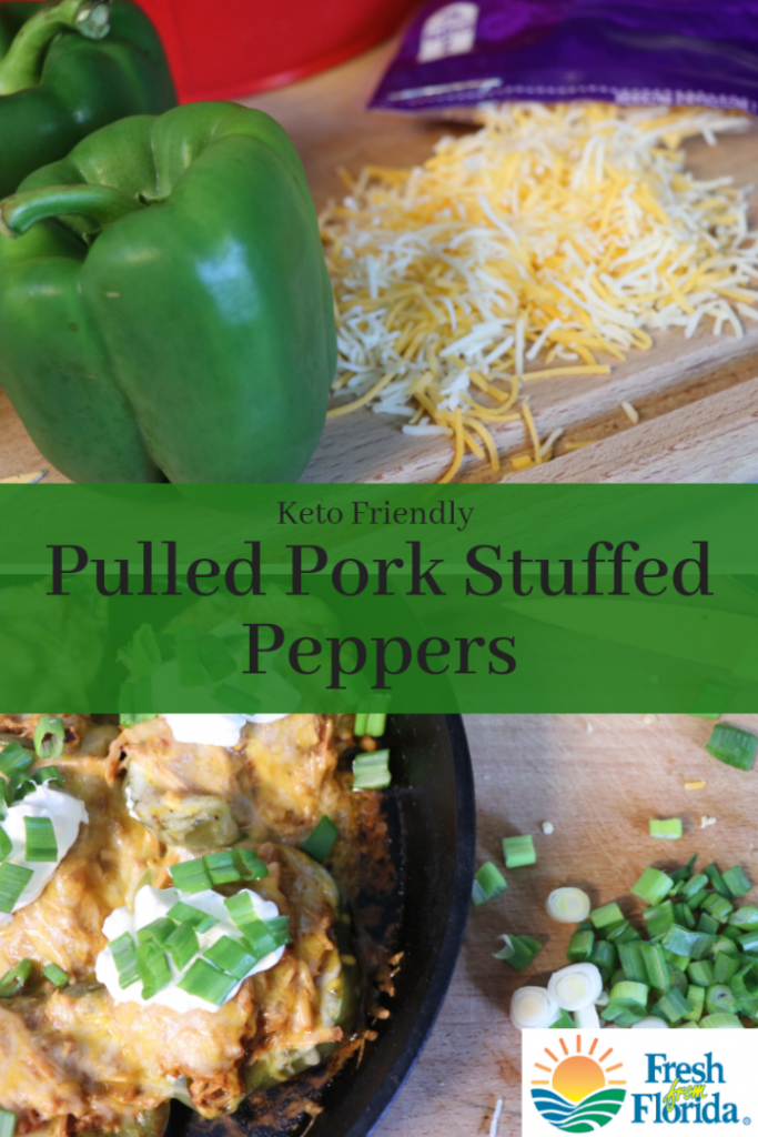 Keto pulled pork stuffed peppers. #ad #peppers #freshfromflorida
