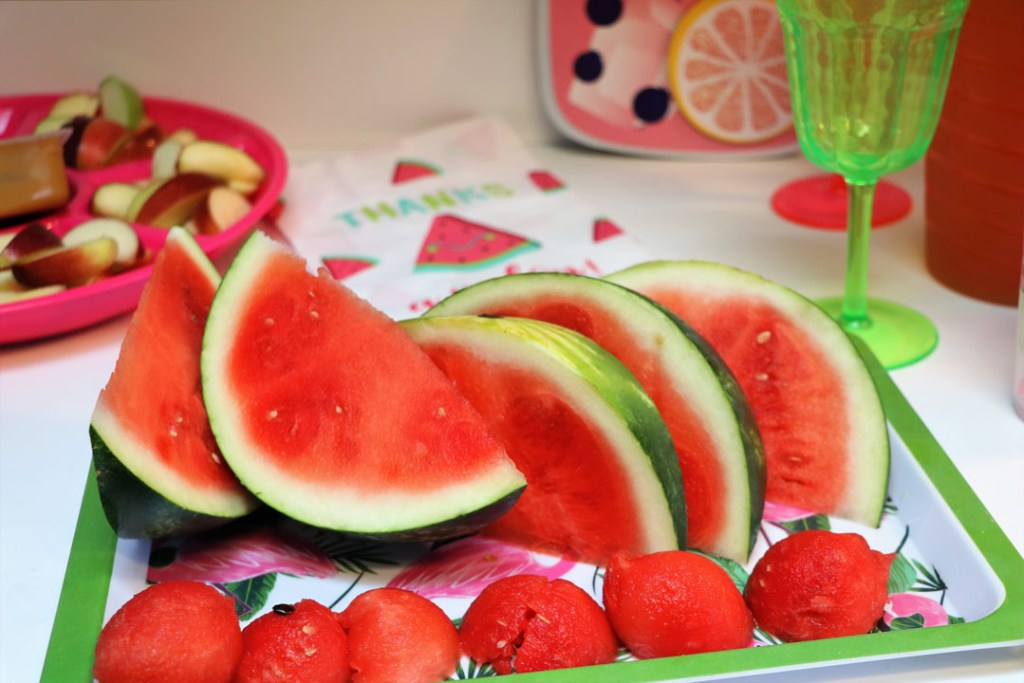 the perfect summer cookout with watermelon tray and easy sides