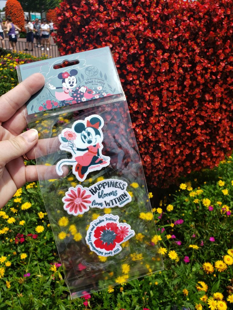 epcot flower and garden festival scavenger hunt prize, minnie mouse patches