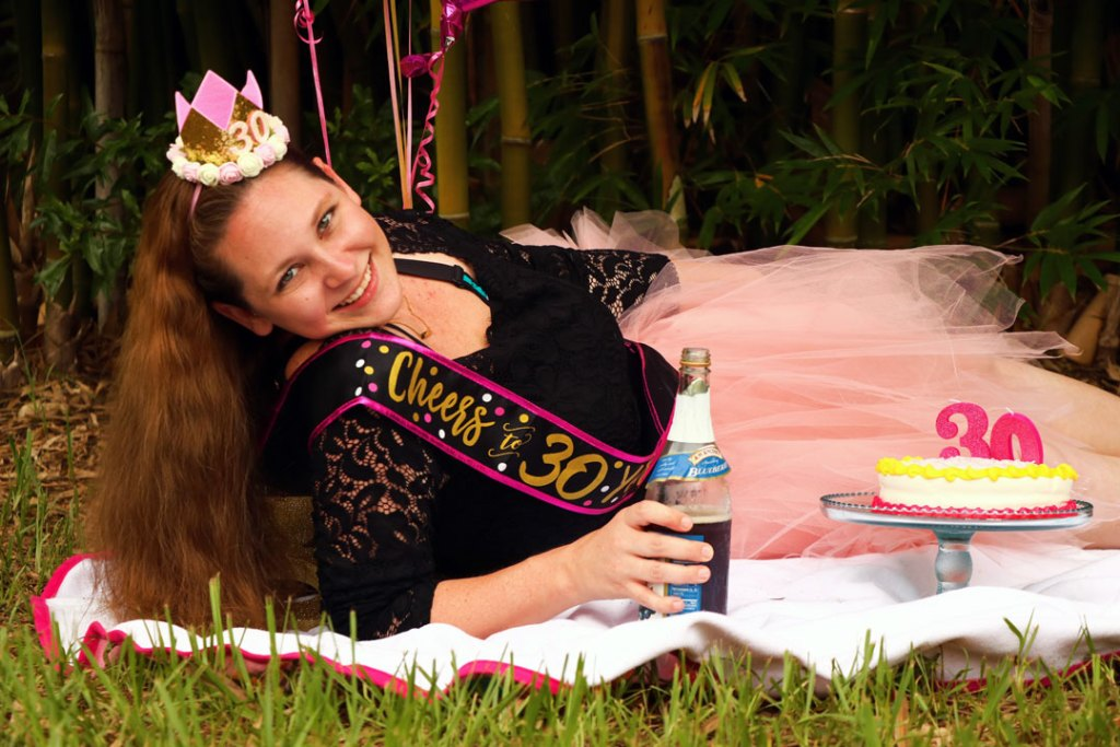 30th Birthday Smash Cake photo shoot