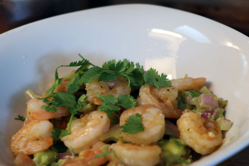 cilantro lime shrimp avocado salad