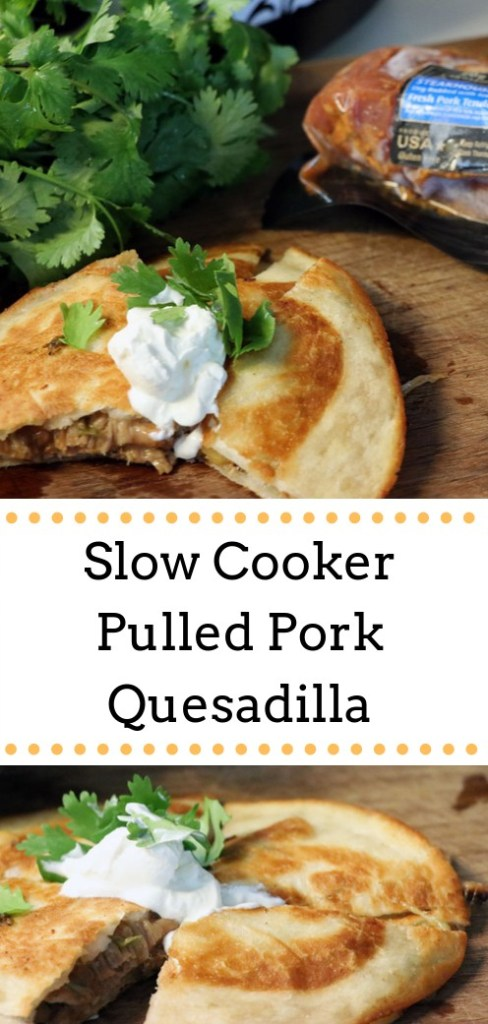 Are you looking for a quick and easy weeknight recipe that the whole family will love? These slow cooker pulled pork quesadillas made with Smithfield Steakhouse Seasoned Fresh Pork Tenderloin are delicious and easy to make, taking less than 30 minutes of active cooking and prep time!