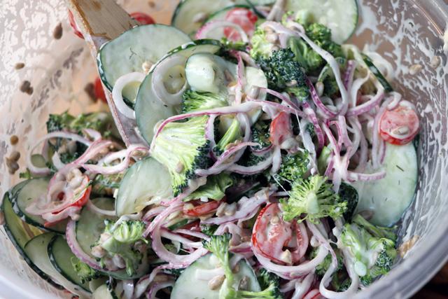 Easy Low Carb Broccoli Salad