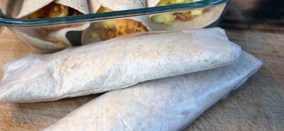 Low Carb Make Ahead Breakfast Burritos