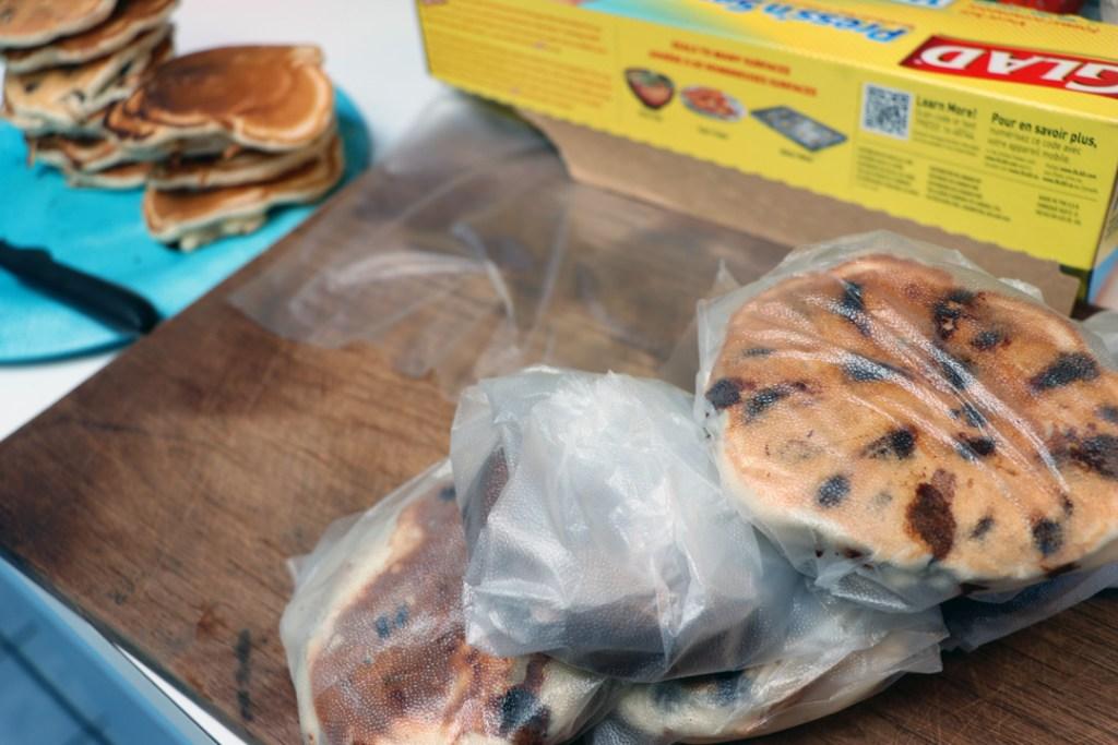 individually wrapped Freezer Pancakes