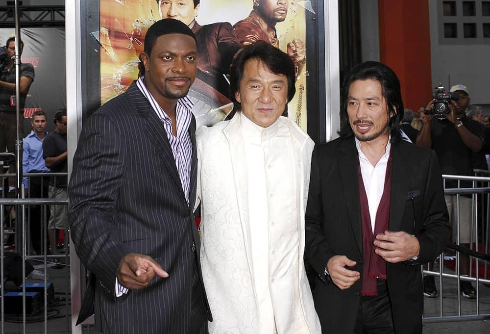 Chris Tucker, Jackie Chan, Hiroyuki Sanada at arrivals
