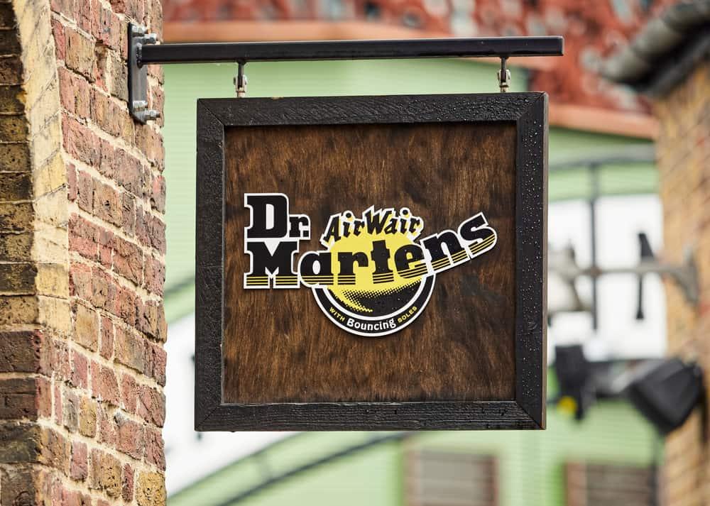 Dr Martens Sign outside shoe shop