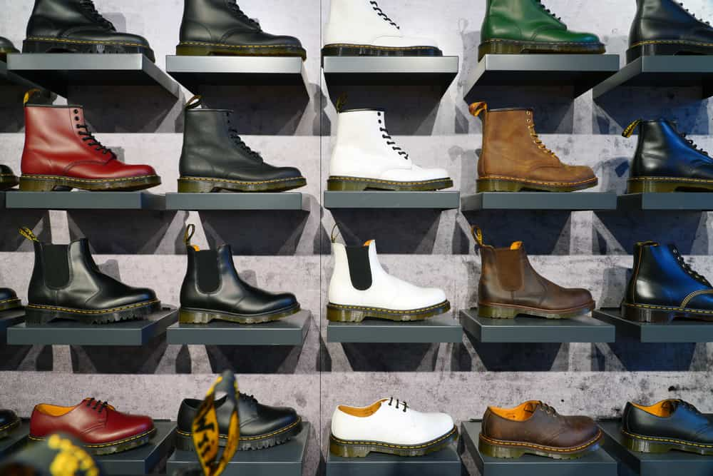 Shoes inside a Dr. Martens store in New York City