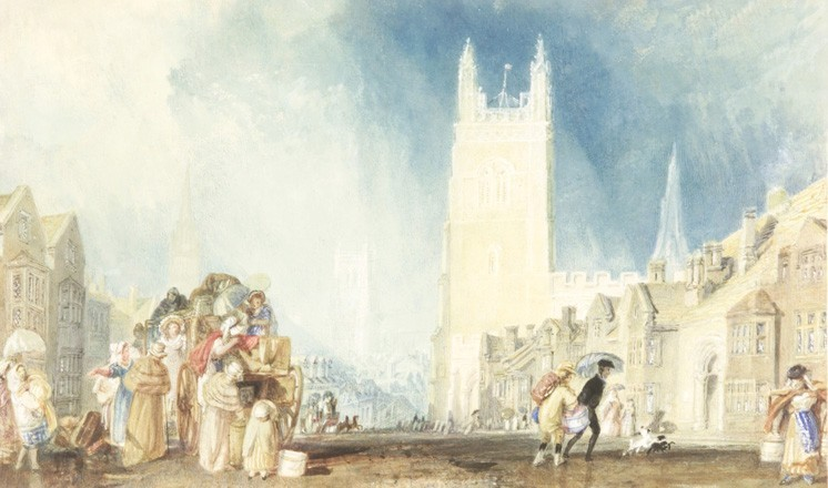 Stamford, Lincolnshire by J.M.W. Turner (about 1828), courtesy the Usher Gallery, Lincoln
