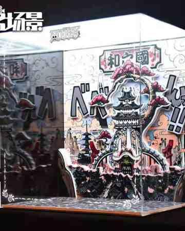 One Piece Wanokuni Self Assembly Acrylic Display With LED Panel