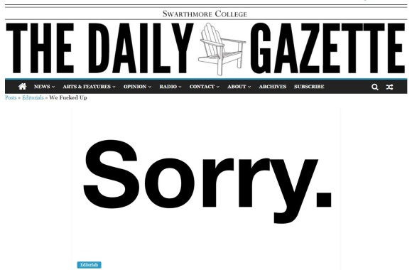 Swarthmore student newspaper apologizes for op-ed telling