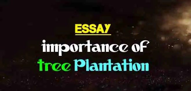 Essay on Importance of Tree Plantation | The College Study