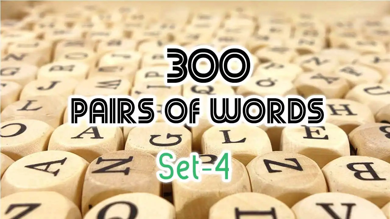 30 Easy Pair of Words for First Year FSc Students | The