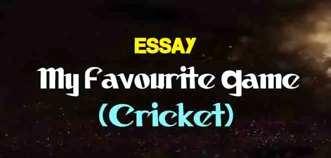 Essay on My Favourite Game (Cricket) | The College Study