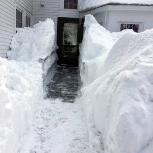Ramp door with large snow trench