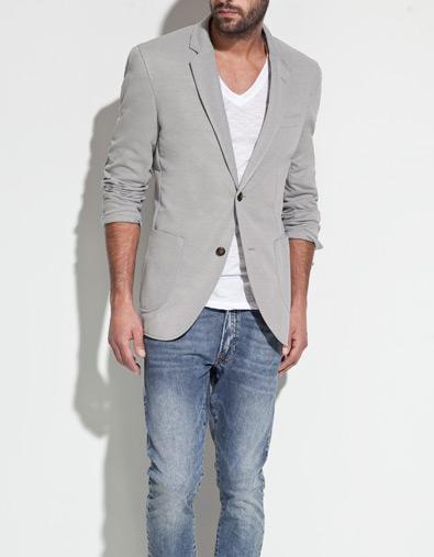 white t shirt grey blazer