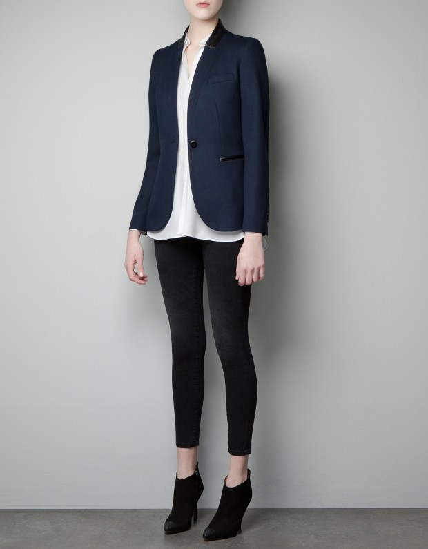 zara-navy-blazer-with-faux-leather-thecolorharmony