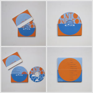 CD cover, opened