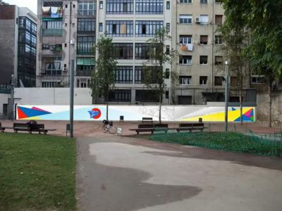 photomontage wall
