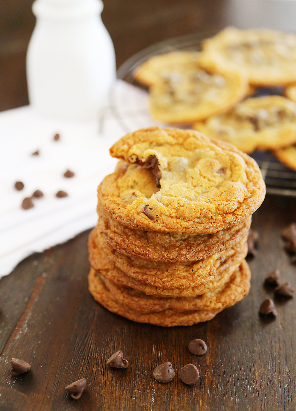 Thin Chewy Chocolate Chip Cookies