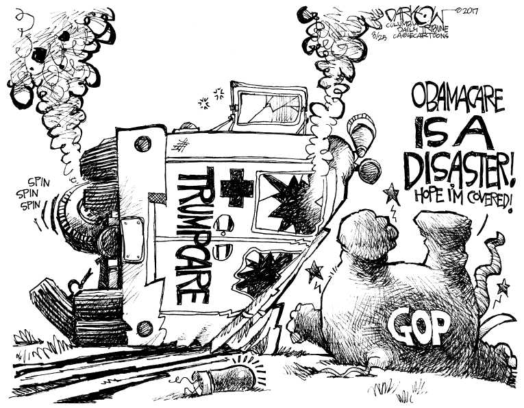 Political Cartoon on 'ObamaCare Survives Intact' by John