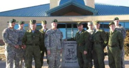 Russian and American troops at Fort Carson, May 2012