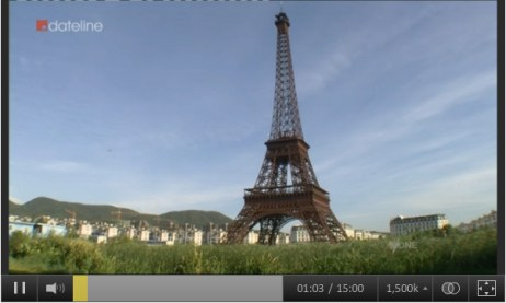 Is this landmark located in Paris, or somewhere else? The answer will surprise you>