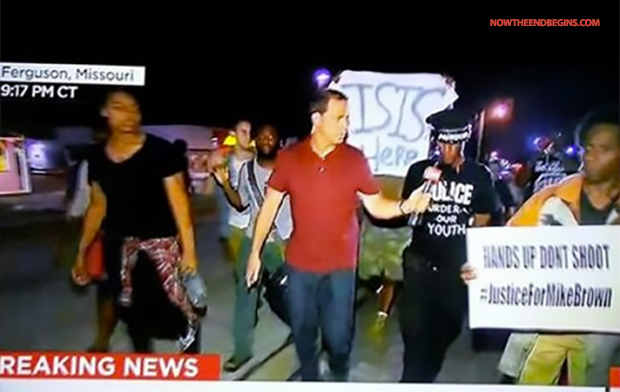 ISIS  made their presence known in Ferguson.