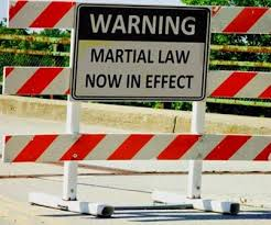 Martial law will happen just prior to the commencement of World War III. A series of false flag events will have prior to the implementation of martial law. America is on a collision course with destiny?