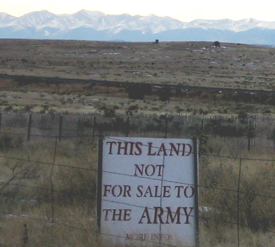 Extreme animosity has existed between Pnon Canyon area ranchers and Ft. Carson.