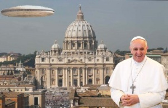 pope and aliens
