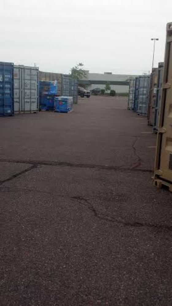 Storage container boxes at the Sioux Falls, SD. Walmart.