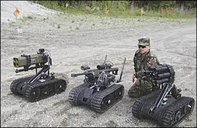 Robotic tanks, not as big, but just as deadly.