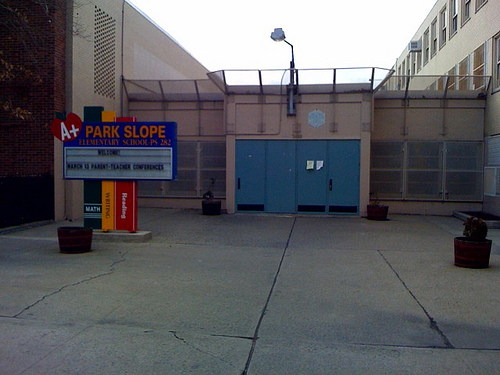 Why would anyone send their child to school in this detention facility?