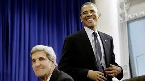 """Secretary of State, John Kerry, and President Obama are """"yucking it up"""" after setting up Americans up to be totally defenseless in the face of tyranny by obliterating the Second Amendment."""