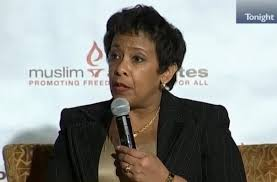 Not a word about the 14 Americans that were executed by a Muslim terrorist. But Lynch(mob) threatens to arrest anyone speaking out against Muslim extremism. I do not have words to describe how out of touch this administration is with the American people.