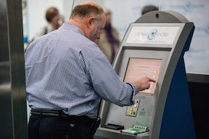 A Global Entry kiosk at Newark Liberty Airport, photo courtesy of U.S. Customs and Border Protection
