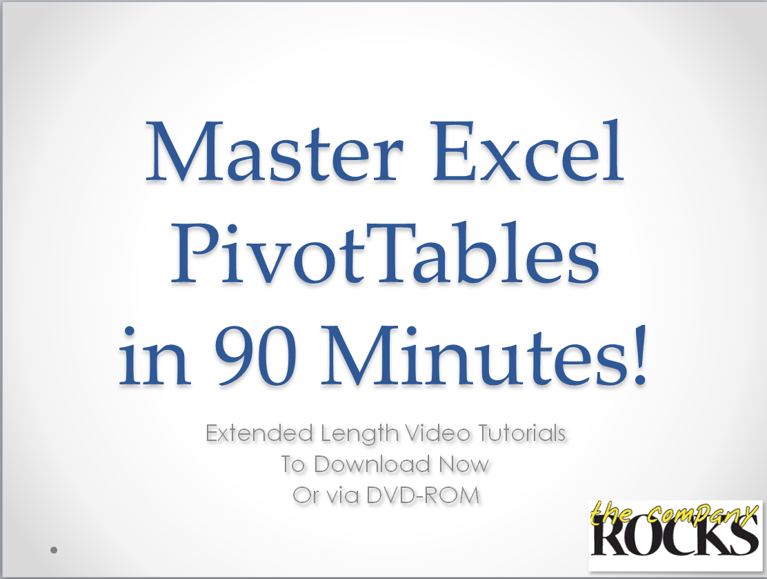 Creating Pivot Tables In Excel