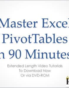 Master excel pivot tables in minutes also video training tutorials for rh thecompanyrocks